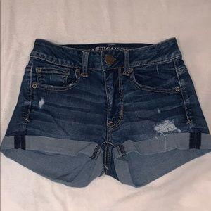 American Eagle denim jean shorts.